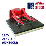 Usa-24 X 31 Large Format Sublimation Heat Press Machine Manual Clamshell 110v
