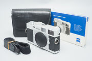 Zeiss Ikon Zm 35mm Rangefinder Film Camera Silver Body Only Limited Edition