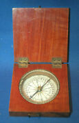 A 19th Century Wooden Cased Compass By Stockert Germany Working Order