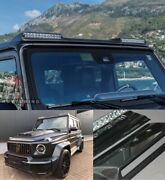 Carbon Fiber Front Roof Spoiler With Leds For Mercedes Benz W463 G Wagon Class