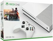 Xbox One S 500gb Console Battlefield 1 Extra White Controller Bundle 8z