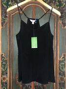 Lily Pulitzer Black Silk Cami Top Xs New Sold Out