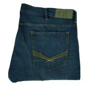Sean John Men's Jeans Size 46bx32 Relaxed Fit Blue Denim Big And Tall