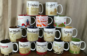 Starbucks You Are Here City Mugs Lot Of 14 Europe Us South America