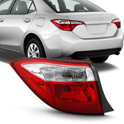 Driver Side Oe-style Outer Left Red Tail Light Lamp For 2014-16 Toyota Corolla