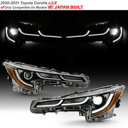 For 2020-2021 Toyota Corolla L/lejapan Built Led Drl Projector Headlights Pair