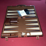 Vintage Backgammon Game Complete Bakelite Pieces And Dices. Taiwan