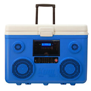 Koolmax 40 Qt. Blue Wheeled Cooler Bluetooth Pa System And Power Station