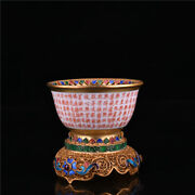 8 Cm China Wucai Porcelain Cup Old Pottery Teacup Wine Glass
