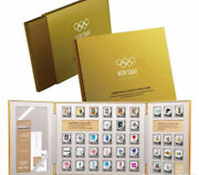 38pcs Olympic 120th Anniversary 999 Sterling Silver Mascots Badge Coins Set