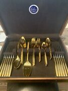 1847 Rogers Bros Gold-plated Flatware 78 Pieces Made In Usa.
