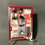 Grayson Rodriguez 2021 Bowman Red Parallel Rookie Card 4/5