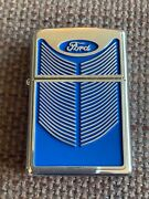 Rare Ford Grill Enamel Zippo Lighter 2003 New In Tin With Sleeve.