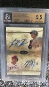2014 Topps Tier One Mike Trout / Miguel Cabera Dual Auto On Card Bgs 9.5 10 Auto