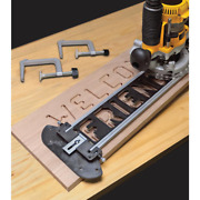 Sign Making Letter Engraving Jig Set Router Woodworking Template Work Guide Tool