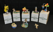 Best Lot Of 7 Vintage Charming Tails Mouse Figurines 1 Signed Plus Violin