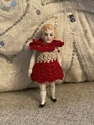 Antique 1920andrsquos Darling 3andrdquo All Original Flapper German Dollhouse Doll All Bisque