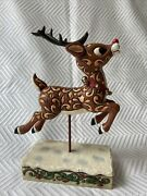 Jim Shore Rudolph Traditions Rudolph The Red-nosed Reindeer 2007 Figurine Enesco
