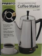 Presto 12-cup Stainless Steel Coffee Maker Pot Percolator With Indicator Light