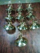 Nautical Marine New Solid Brass Hanging Cargo Pendant Light And Shade - 10 Piece