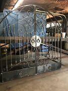 Tuscan Old World Iron Arched Scroll Garden/wine Cellar Gate 74andrdquo Wide