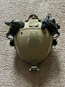 Crye Precision Airframe Lg Tan W/ Peltor Dial Comms+pttsandtw Combat System+retent