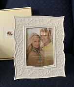 Lenox Opal Innocence White Carved Photo Picture Frame 5×7 New In Box 1st Quality