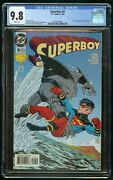 Superboy 9 1994 Cgc 9.8 1st Appearance King Shark White Pages