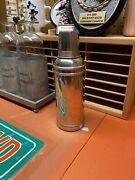 Vintage About 100 Years Old American Thermos Bottle Co Nickel / Brass