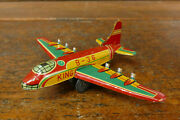 Vintage 1950's Japan Tin Litho Friction Convair B36 Peacemaker Bomber Airplane