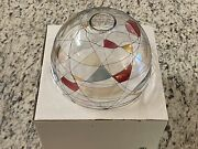 Partylite Mosaic Stained Glass Candle Lamp Shade Brand New In Box