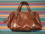 Desmo Made In Italy Soft Leather Handbag With Multiple Pockets