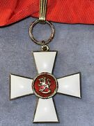 Finland Order Of The Lion Of Finland .commander Grand Cross Sash Badge 1942