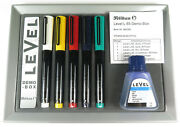 Pelikan Level Set L 65 Promo Box With 5 Piece Fountain Pen And Ink Bottle New