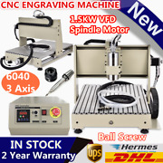 3 Axis Cnc 6040 Router Engraver Machine Drilling Diy Vfd 3d Mill Cutter 1500w