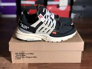 Nike Off-white X Air Presto Andlsquo The Ten Andlsquo - Size 9 - Aa3830-001