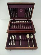 Classic Rose By Reed And Barton Sterling Silver Flatware Set 8 Service 50 Pieces