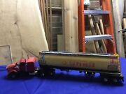 Shell Oil Truck Toy Tractor Trailer Toy Used