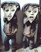 2pcs Huge Mambila Power Reliquary Set African Carving Statue 23 Extremely Rare