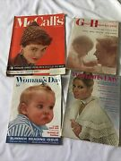 Lot Of 4 Vintage Mcm Women Magazines 50 60 Mccalls Good Housekeeping Womans Day