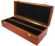 Coin Slab Box Wood For 60 Certified Coins