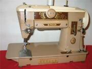 Singer 401a Sewing Machine Service In Good Working Condition All Metal Gears