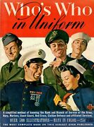 Vintage Original Wwii 1940and039s Whoand039s Who In Uniform Great Graphics Homefront