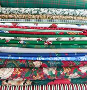 Fabric Lot - Cotton - Quilting, Craft, Holiday Christmas Prints - 33 Yards