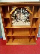 The Franklin Mint Wizard Of Oz The Yellow Brick Road Wood Display Cabinet
