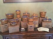 Longaberger Complete Jw Miniature Basket Collection And Extras With Boxes/rare