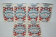 New Old Stock Lot 6 Vtg Union Bags 3 Oz Workman Chewing Tobacco Foil Pouches