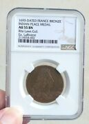 1693 French Indian Peace Medal Ngc Au 55 Bn Earliest Type Bronze France Rare