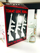 Vtg Tommy Guns Vodka Empty Bottle W/ Rare Box 1920and039s Al Capone Flappers