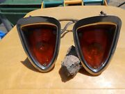 1964 Dodge Polara Front Bumper Turn Signal Assemblies With Retainers Used Parts